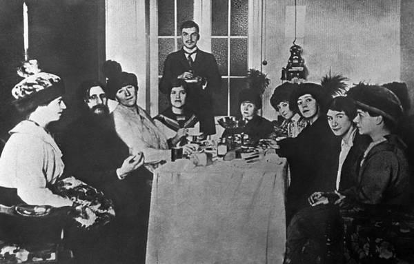 Imperial Russia Photograph - Grigori Rasputin And His Female Admirers by Ria Novosti