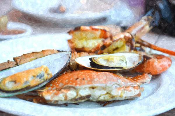 Protein Painting - Grilled Seafood by Rakratchada Torsap