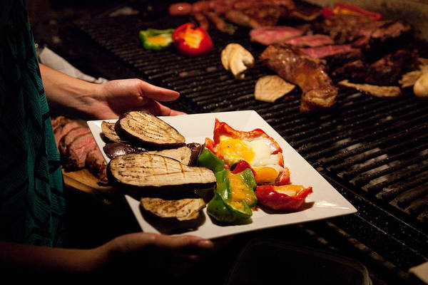 Que Photograph - Grilled Vegetables And Asado Prepared by Michael &Amp Jennifer Lewis