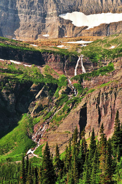 Photograph - Grinnell Falls by Greg Norrell