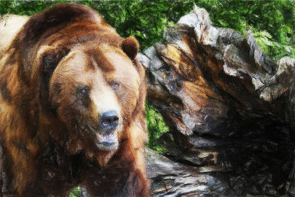 Painting - Grizzly 301 by Dean Wittle