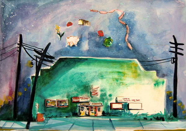 Wall Art - Painting - Groceries Come And Go by Mindy Newman