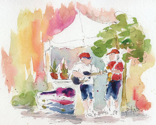Painting - Groovin' At The Market by Pat Katz