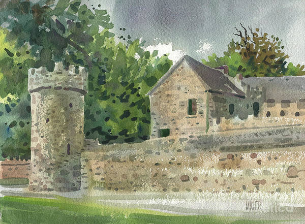 Guard Tower Wall Art - Painting - Guard Tower At Tintern Abbey by Donald Maier