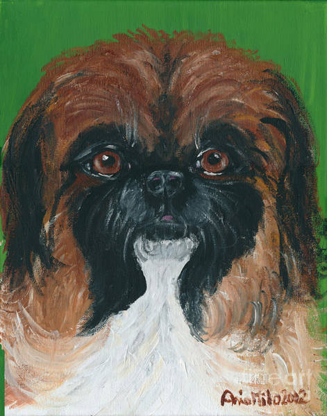 Painting - Gucci The Peke by Ania M Milo