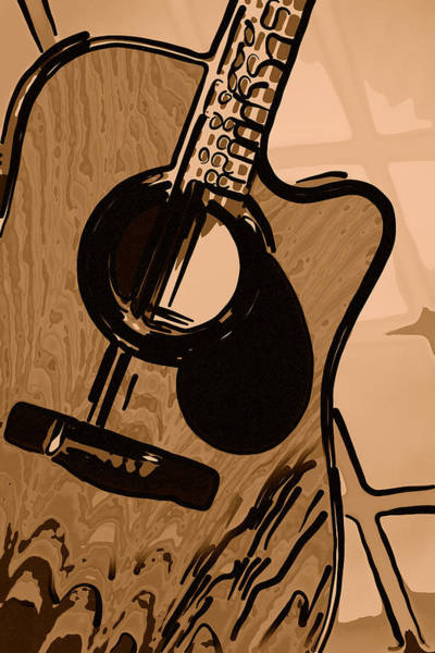 Photograph - Guitar In Brown by M K Miller