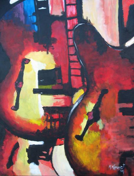 Musical Theme Painting - Guitar Trio by Michael Kypuros