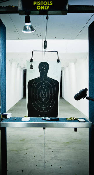 Photograph - Gun Range Target After Use by Ron Levine