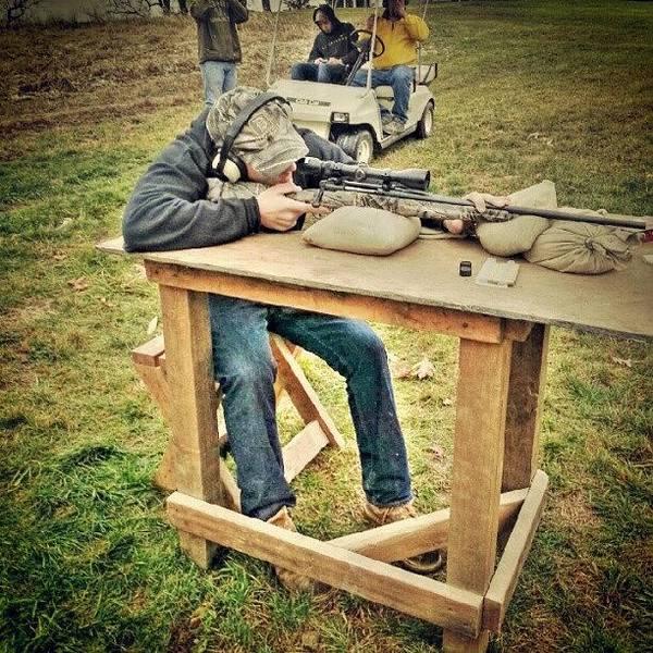 Rifles Photograph - #gun #rifle #gunrange #hunting #camo by Josh Lang