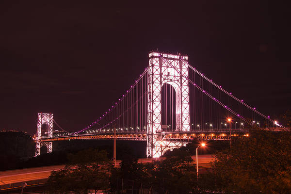 Photograph - Gwb For Breast Cancer Awareness by Theodore Jones