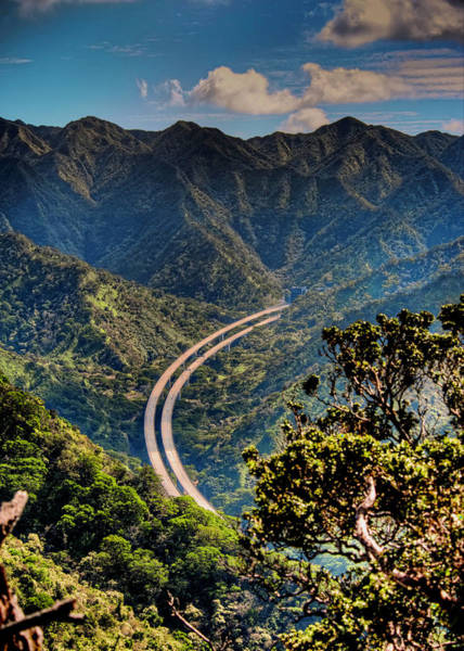 Photograph - H-3 From The Aiea Loop Trail by Dan McManus