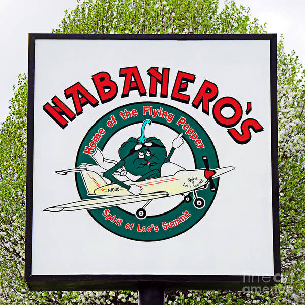 Photograph - Habaneros Home Of The Flying Pepper Sign 1 by Andee Design