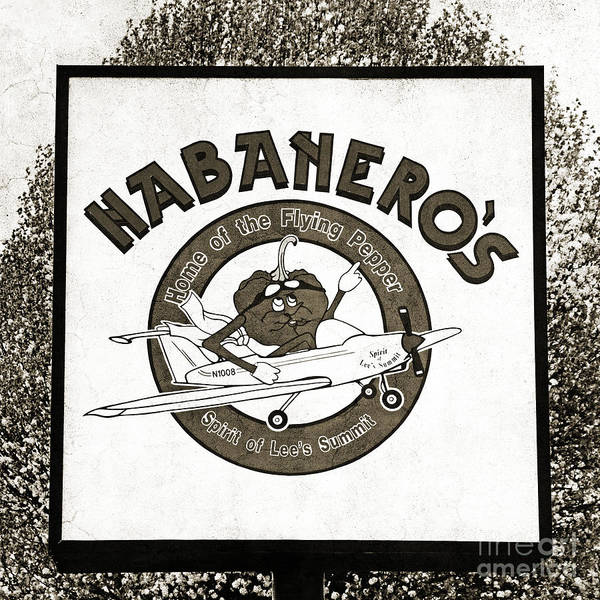 Photograph - Habaneros Home Of The Flying Pepper Sign 2 by Andee Design