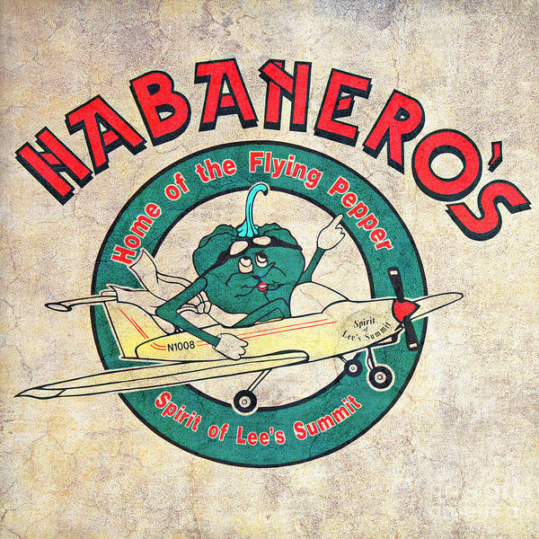 Photograph - Habaneros Home Of The Flying Pepper Sign 3 by Andee Design