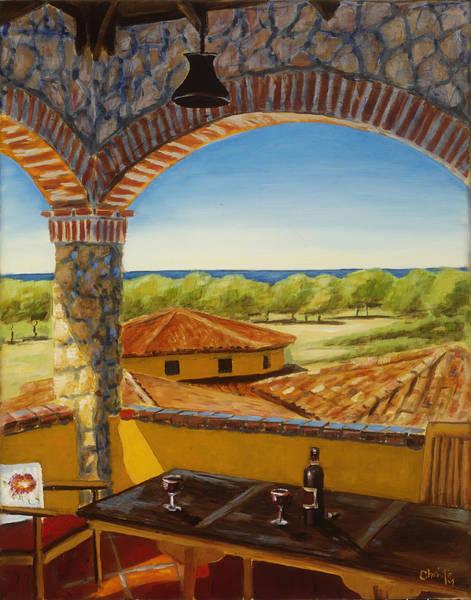 Wall Art - Painting - Hacienda Playa Blanca by Christie Michael