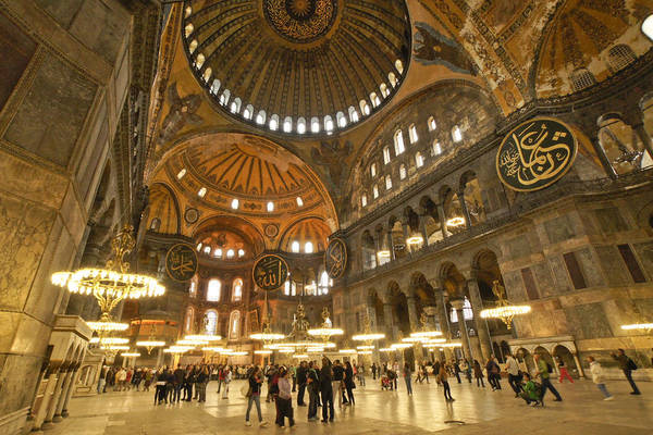 Sancta Sophia Photograph - Hagia Sophia In Istanbul by Michele Burgess