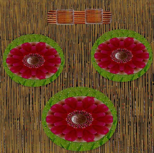 Stream Mixed Media - Hail To The Jewel Of The Lotus by Pepita Selles