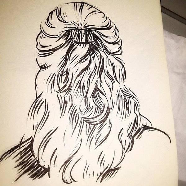 Brush Wall Art - Photograph - #hair #sketch by Jeff Reinhardt