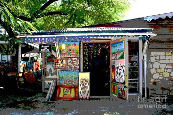 Posterize Photograph - Haitian Art Gallery II by The Art of Alice Terrill