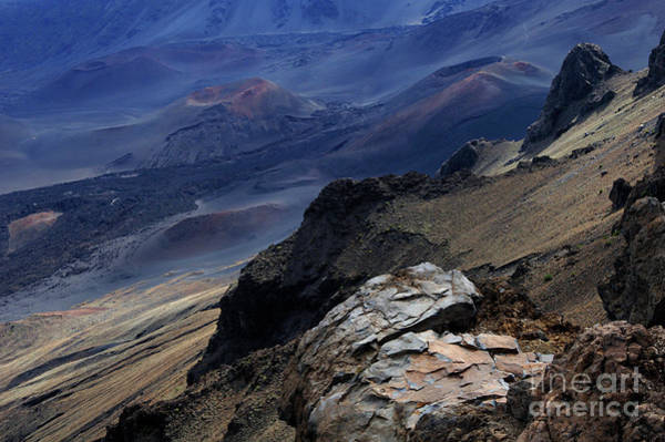 Surfboard Fence Photograph - Haleakala Crater  by Bob Christopher