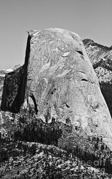 Photograph - Half Dome Black And White by Pam  Holdsworth