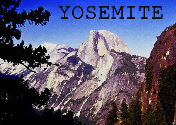 Wall Art - Painting - Half Dome by David Lee Thompson