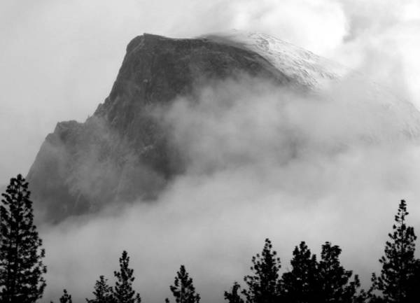 Photograph - Half Dome In Winter by Jeff Lowe