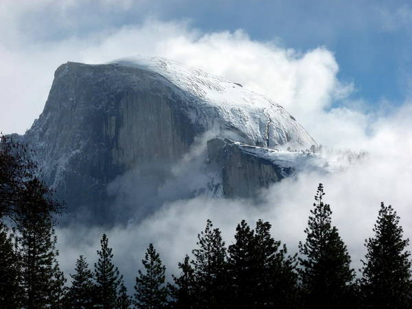 Photograph - Half Dome In Winter Sunshine by Jeff Lowe