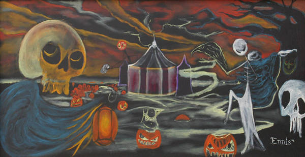 Halloween Circus Art Print