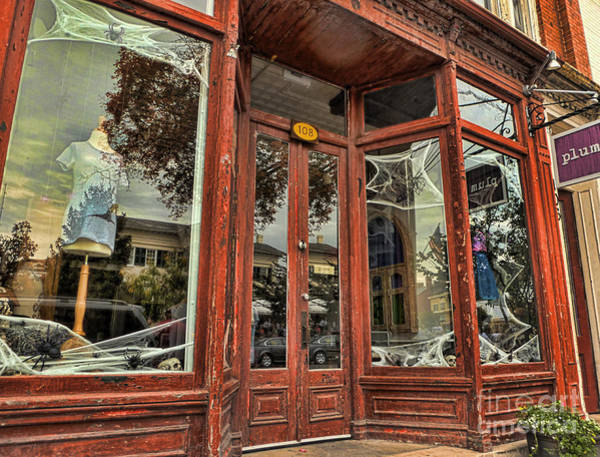 Photograph - Halloween Storefront - Shepherdstown Wv by Julia Springer