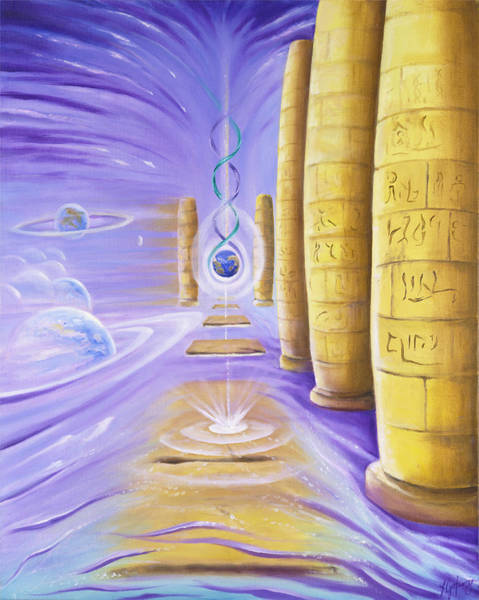 Double Helix Painting - Halls Of Creation by Teresa Gostanza