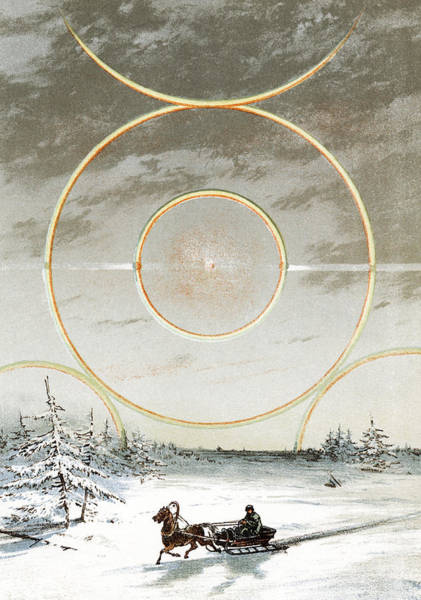 22 Degree Halo Wall Art - Photograph - Haloes, Historical Artwork by Sheila Terry