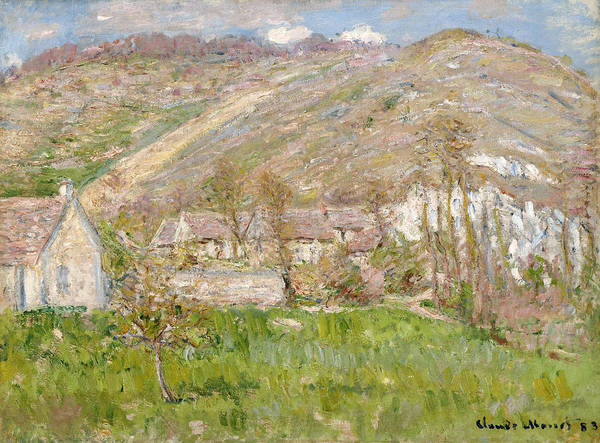Hamlet Painting - Hamlet On The Cliffs Near Giverny by Claude Monet