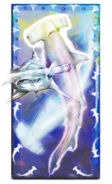 Hammerhead Photograph - Hammerhead Sharks by Design Pics Eye Traveller