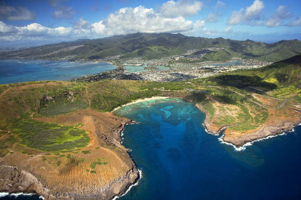 Wall Art - Photograph - Hanauma Bay From Above by Ron Dahlquist - Printscapes