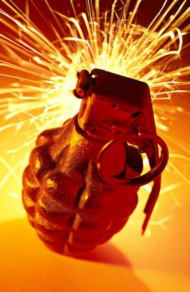 Grenade Wall Art - Photograph - Hand Grenade  by Garry Gay