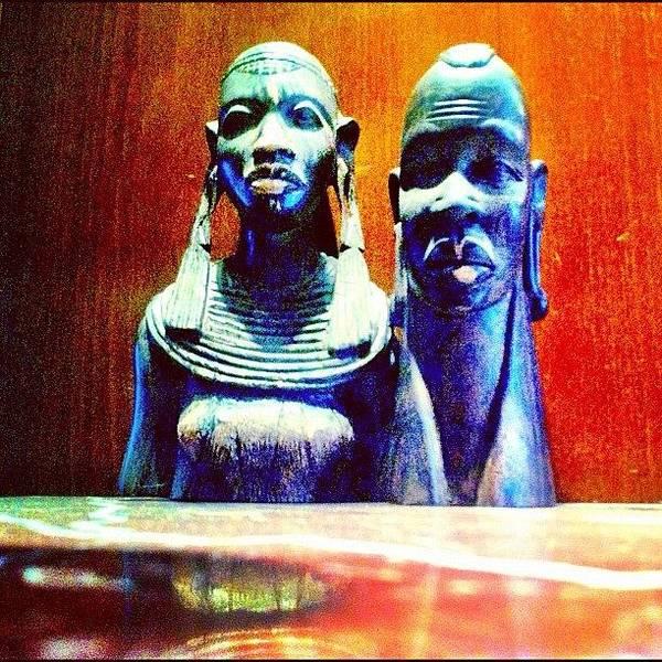 Handmade Wall Art - Photograph - Hand Made Wooden Sculpture From Africa by Mina Tadros