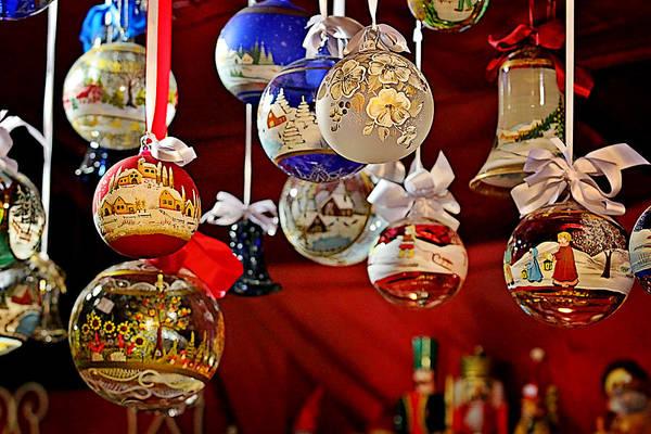 Weihnachten Photograph - Handcrafted Mouth Blown Christmas Glass Balls by Christine Till