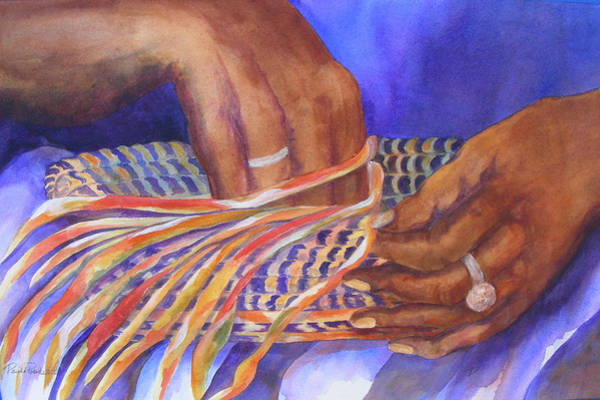 Painting - Hands Of The Basket Weaver by Paula Robertson