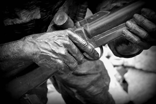Hands Of War Art Print