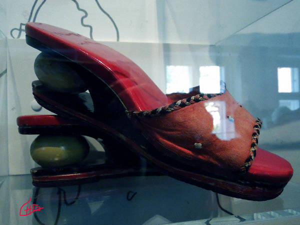 Photograph - Handsome Shoes With Fresh Eggs In The Middle Plateu by Colette V Hera  Guggenheim