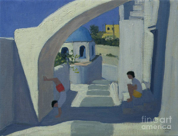 Greece Painting - Handstand by Andrew Macara