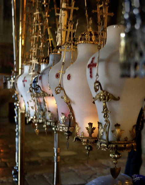 Church Of The Holy Sepulcher Photograph - Hanging Candles by Endre Balogh
