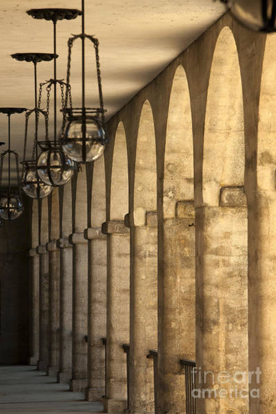 Lightner Museum Photograph - Hanging Lamps And Colonnade by Will & Deni McIntyre