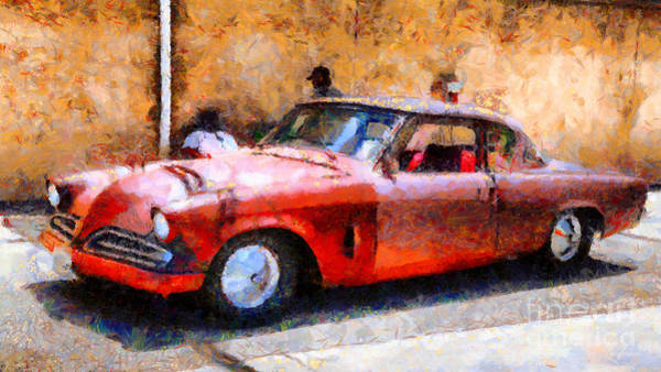 Photograph - Hanging With My Buddy . 1953 Studebaker . Painterly . 5d16513 by Wingsdomain Art and Photography