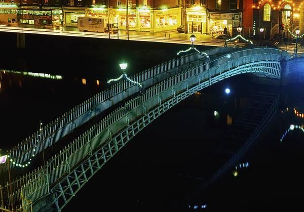 Horizontally Photograph - Hapenny Bridge, Dublin City, Co Dublin by The Irish Image Collection