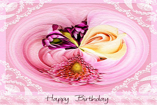 Pink Wall Art - Photograph - Happy Birthday Bouquet by Paula Ayers