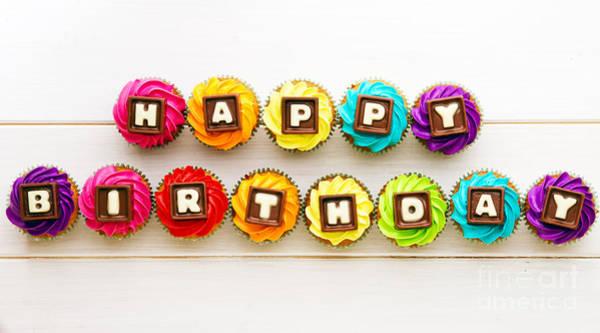 Wall Art - Photograph - Happy Birthday Cupcakes by Ruth Black