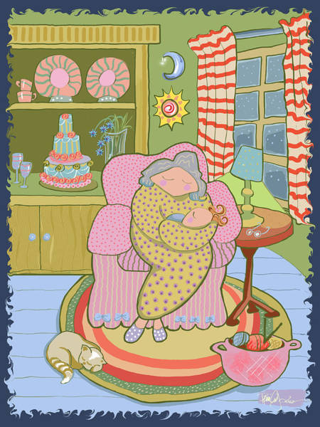 Knitting Digital Art - Happy Birthday Sugarfoot by Renee Ciufo