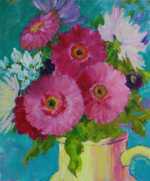Painting - Happy Flowers by Tara Moorman